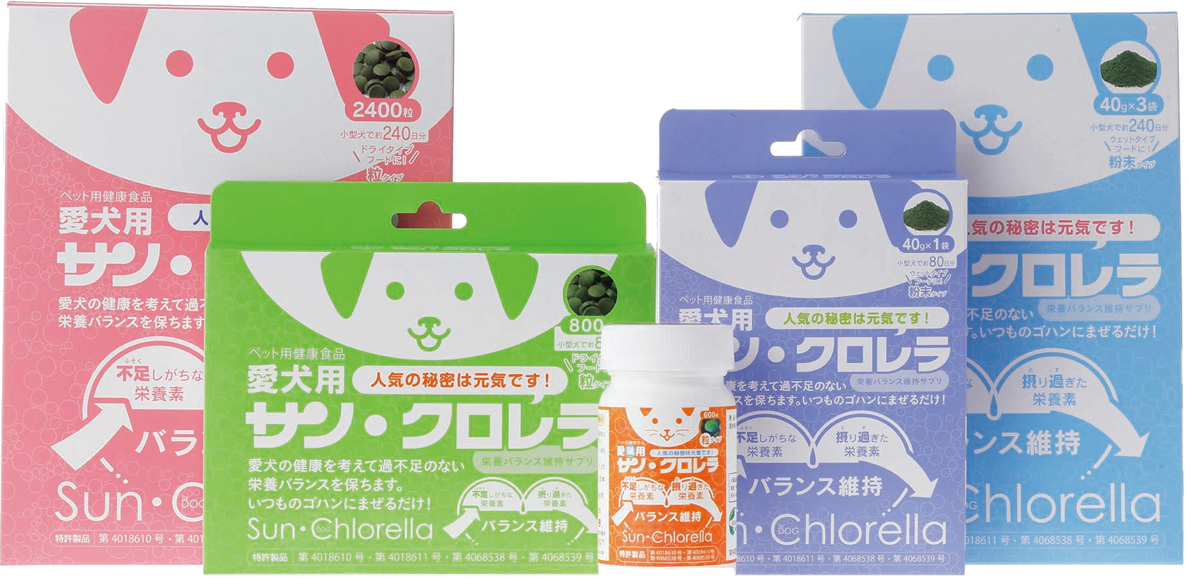 the current chlorella product for pets
